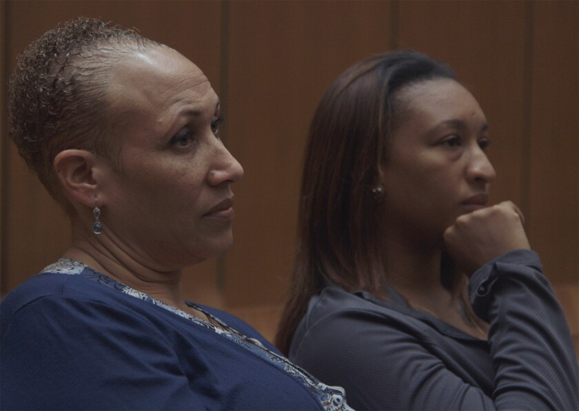 "Monica Grier and Kaylica Anderson in ""The Return,"" which deals with how former prisoners, their families and others coped after California amended its controversial ""three strikes"" sentencing law."
