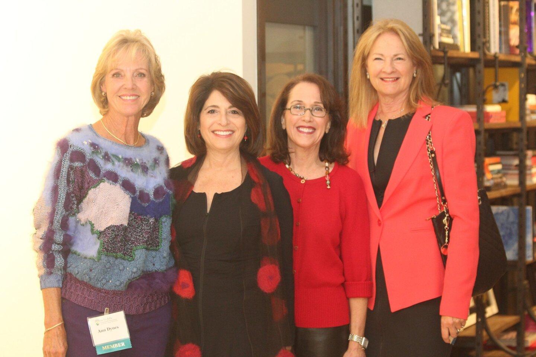 La Jolla Community Foundation member Ann Dynes, Board Chair Phyllis Pfeiffer, board member Julie Dubick and Grants Committee Chair Susan McClellan