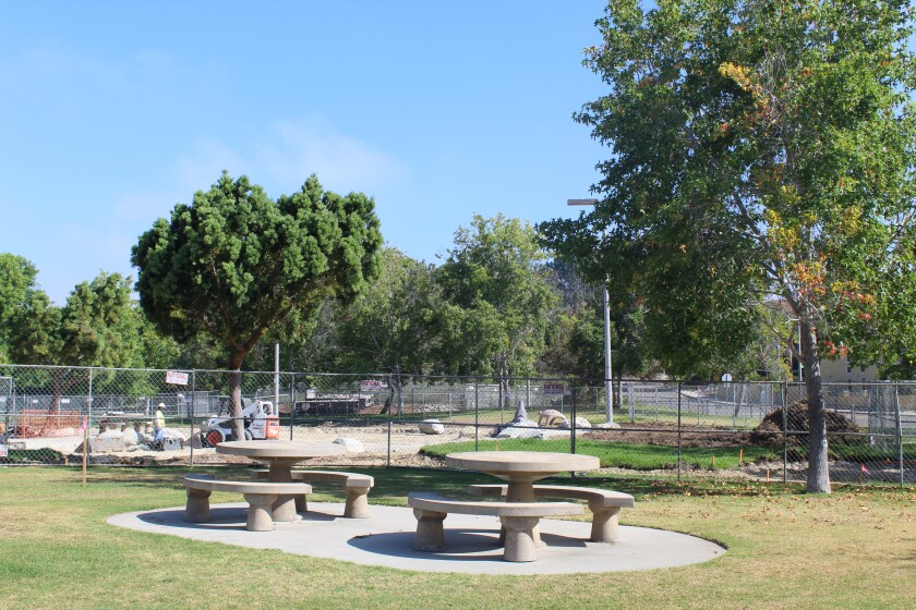 Work has begun on improvements at Carmel Creek Park.