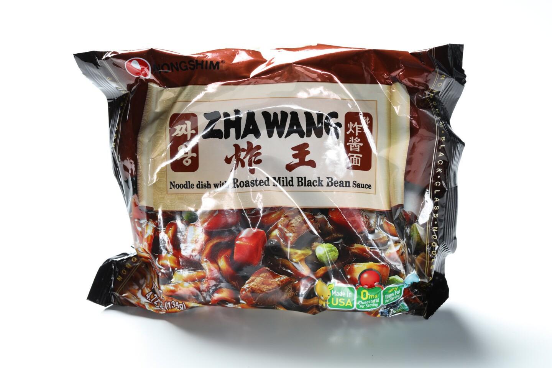 Nongshim Zha Wang are a take on the Korean-Chinese black bean noodle dish jajangmyeon.