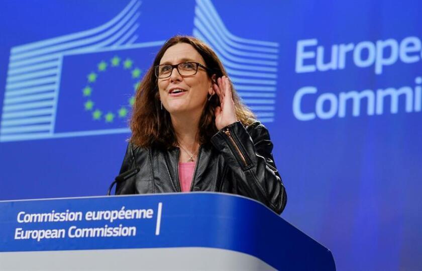La comisaria europea de Comercio, Cecilia Malmstrom. EFE/Archivo