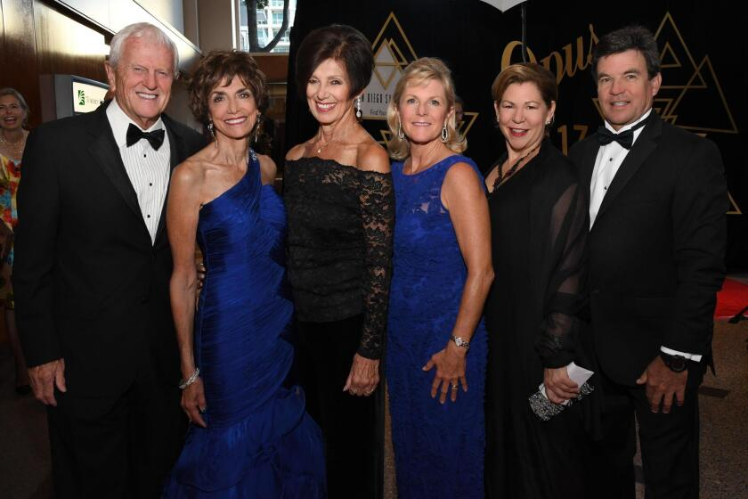 Jay Jeffcoat, Joyce Gattas, Ann Davies, Lori Fleet-Martin, Katy McDonald (Symphony chief of staff), Mike Martin