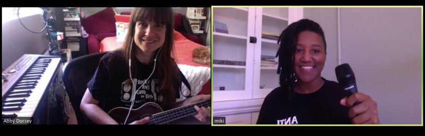 """Abby Dorsey (left) and Miki Vale will be teaching the virtual workshop """"Songwriting for Social Change."""""""