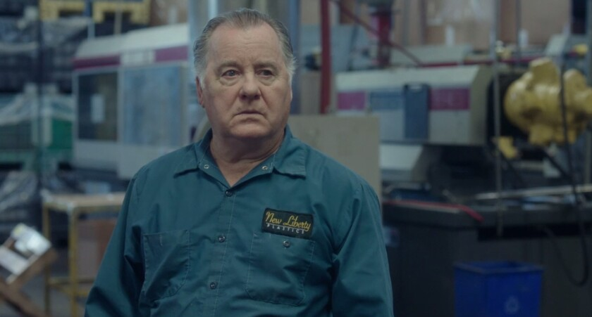 "Veteran actor Peter Gerety in a scene from the film ""Working Man"""