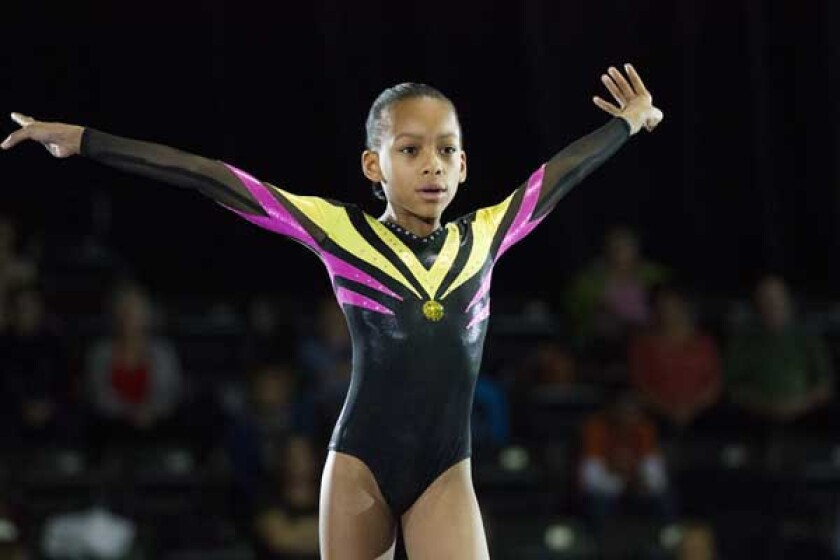 "Sydney Mikayla in ""The Gabby Douglas Story"" on Lifetime."
