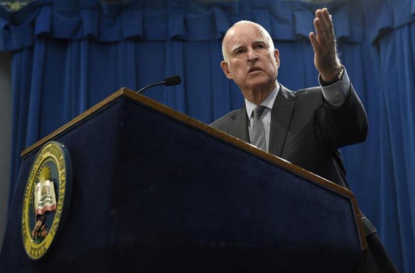 El gobernador de California, el demócrata Jerry Brown.