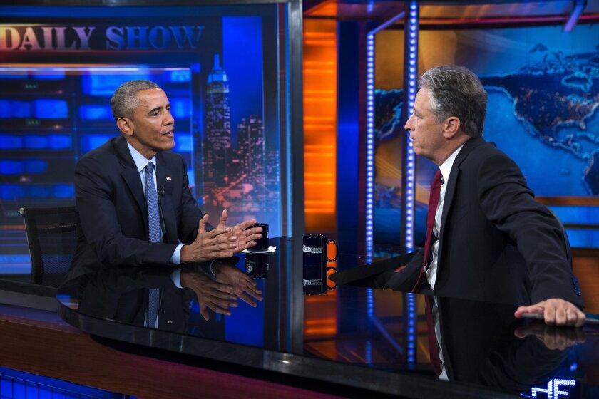 Barack Obama, Jon Stewart