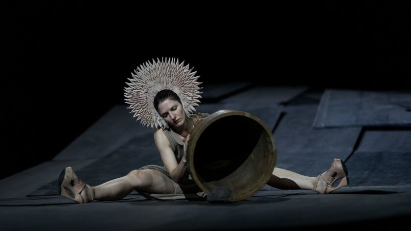 """Kalliopi Simou performs the show """"The Great Tamer"""" at Royce Hall."""