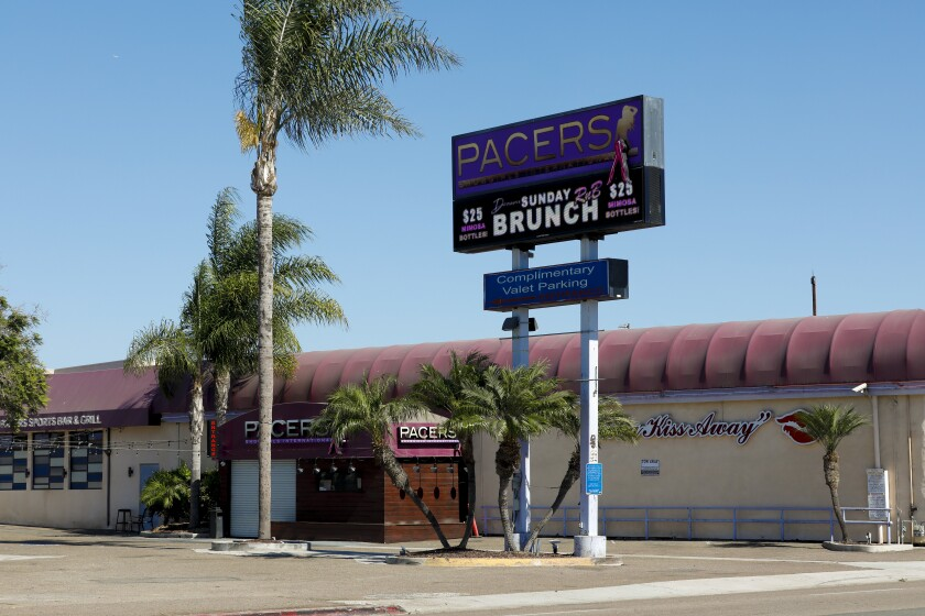 Pacer's Showgirls International in the Midway District on Tuesday, Oct. 13, 2020 in San Diego, CA.