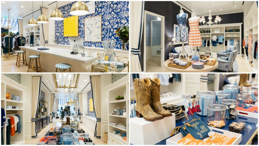 A look at the interior of Reese Witherspoon's Draper James store in Dallas.
