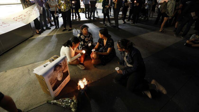 LOS ANGELES, CA AUGUST 31, 2018: Juli Lopez, 11, (left-right)Camille Casas, 9, Cat Yang, 25, and