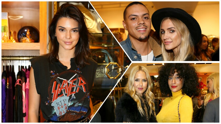 Kendall Jenner, Evan Ross, Ashlee Simpson, Rachel Zoe and Tracee Ellis Ross at the opening of What Goes Around Comes Around Beverly Hills flagship store.