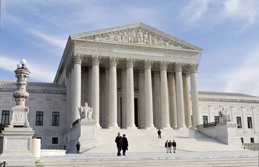 FILE - This Jan. 25, 2012, file photo, shows the U.S. Supreme Court Building in Washington. (AP Photo/J. Scott Applewhite, File)