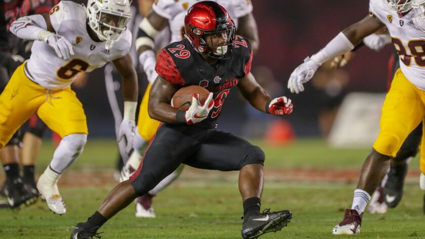 San Diego State running back Juwan Washington (turf toe), who ranks fourth in the nation in rushing with 150.7 yards a game, returned to practice on Thursday and is expected to play against Eastern Michigan.