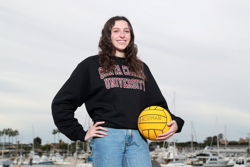 Kate Rodman of Corona del Mar girls' water polo has committed to play at Santa Clara University.