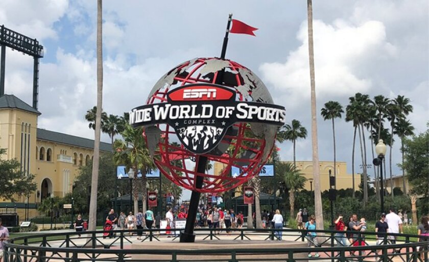 The Disney World ESPN Wide World of Sports Complex was supposed to host 10 college basketball events.