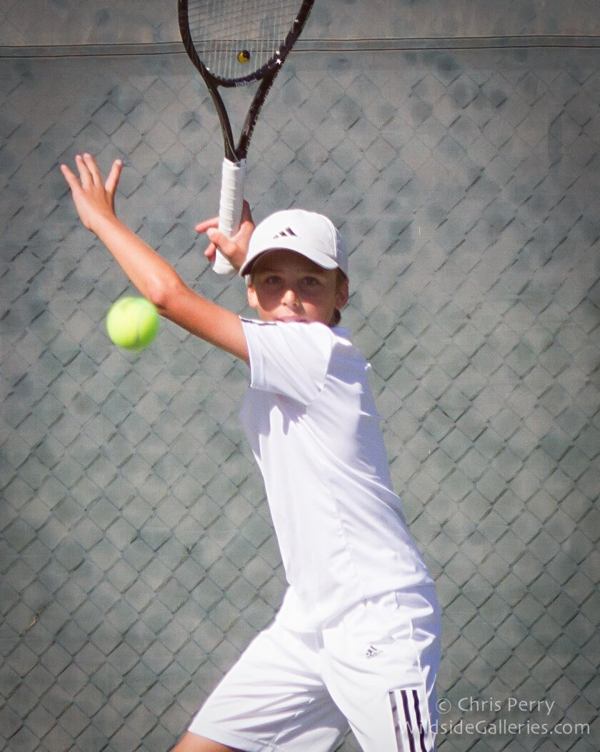 Top-ranked junior tennis player Hudson Rivera will play in a Jan. 31 exhibition at the Rancho Santa Fe Tennis Club's new member welcome reception. Photo courtesy of Chris Perry