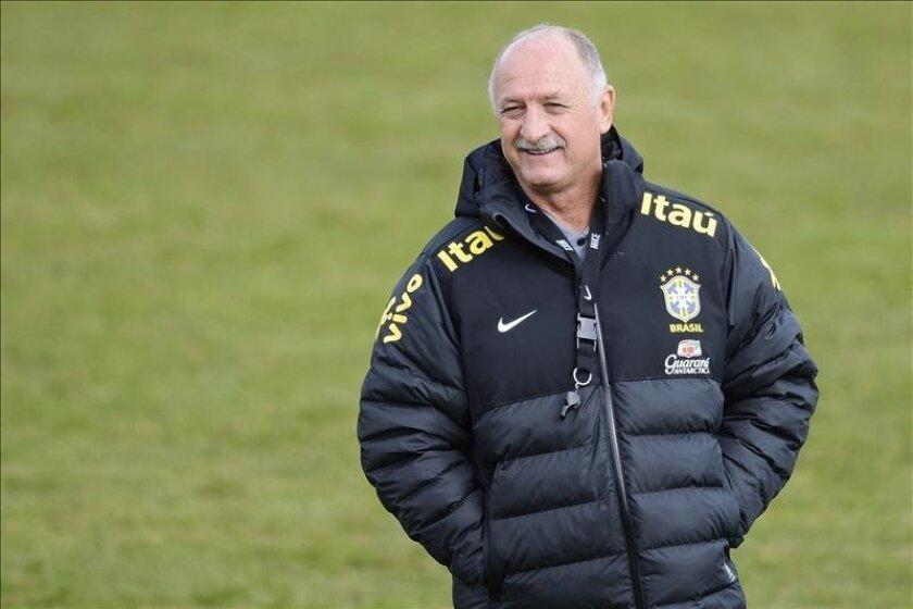 En la imagen, el seleccionador de fútbol de Brasil, Luiz Felipe Scolari. EFE/Archivo