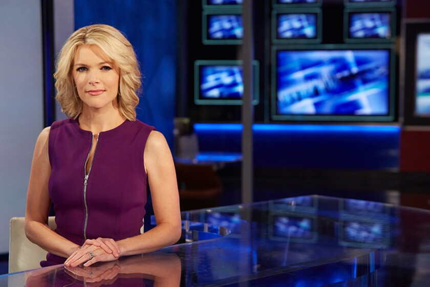 Megyn Kelly of Fox News Channel, which posted a rare weekly win in the basic cable prime-time ratings.