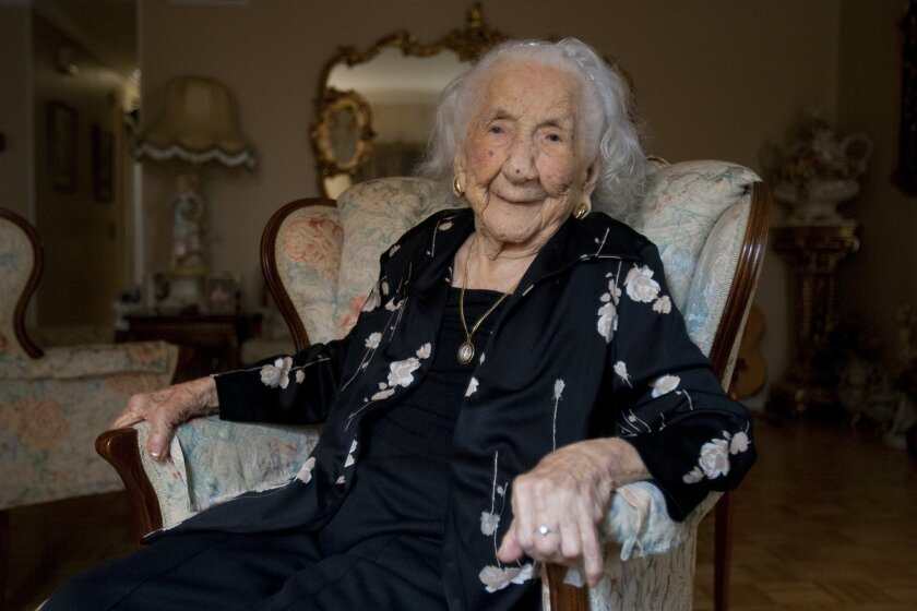 California's oldest resident, Soledad Mexia, was 110 in this 2009 photo. She was born on Aug. 13, 1899 in La Noria, Sinaloa, Mexico where she never attended any formal schooling.