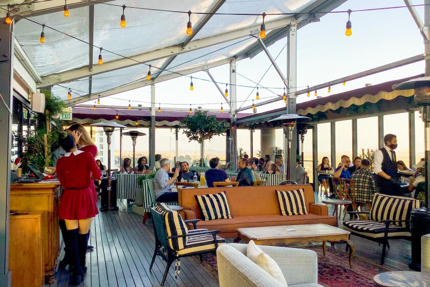 A photo of Harriet's Rooftop in West Hollywood.