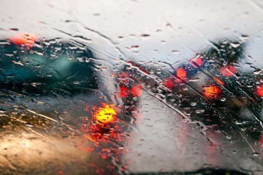 Friday was riddled with rain-related car accidents throughout San Diego.
