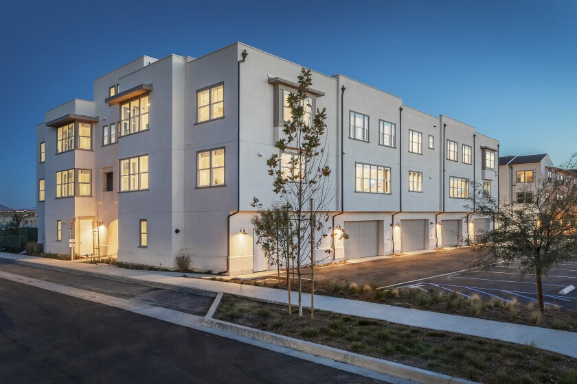 The three-story townhomes at Veraz range in size from 1,340 to 2,007 square feet with up to three bedrooms and 3.5 bathrooms. Pricing begins in the low $400,000s.