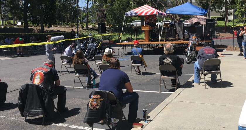 Rushing Wind Ministry held in-person services outdoors on Sunday, despite state restrictions on such gatherings.