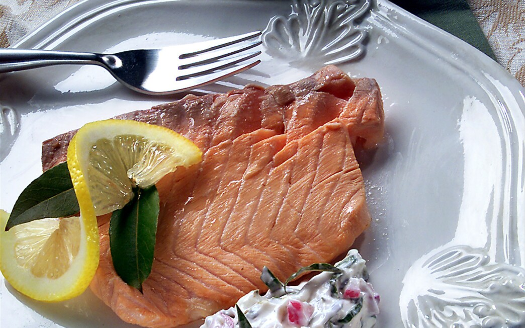 Pickled salmon with two sauces