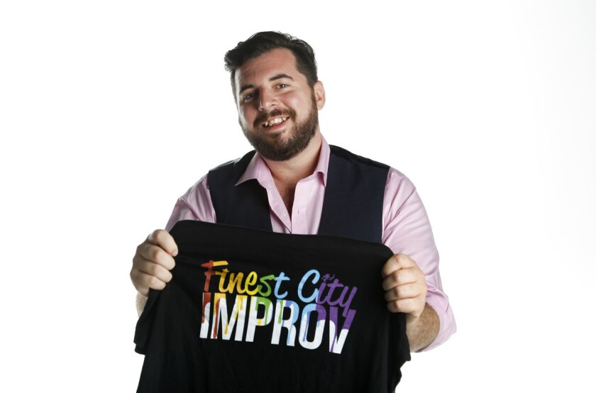Jesse Suphan is co-chair and producer of Impride, the debut LGBT improvisational comedy festival, hosted by Finest City Improv in partnership with San Diego Pride. (Howard Lipin/Union-Tribune)