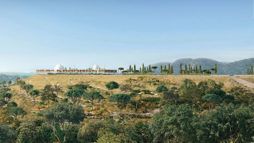 The Berggruen Institute campus will be stretched atop a ridge in the Santa Monica Mountains.