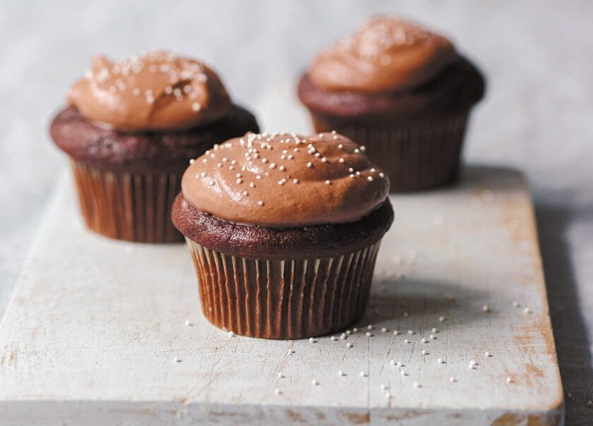 """Frosted Mocha Cupcakes from """"Yogurt Culture."""