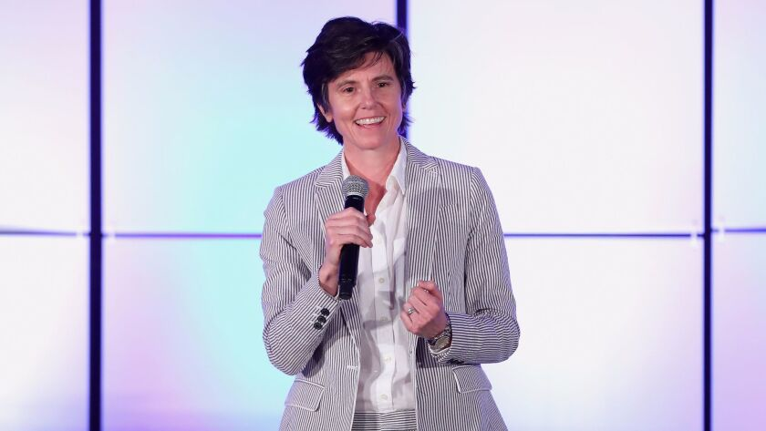 Tig Notaro, onstage at the Family Equality Council's Impact Awards, will host the L.A. Times Book Prizes on Friday, April 21.