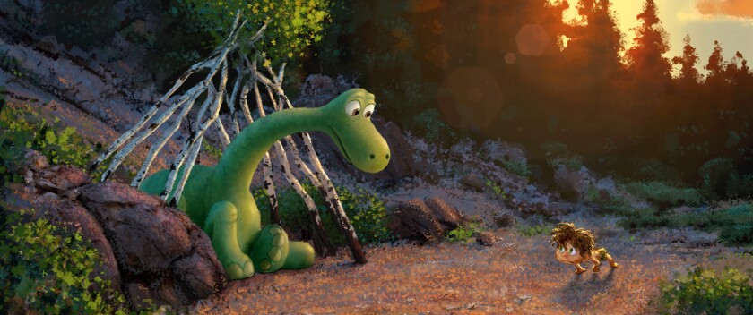 """""""The Good Dinosaur"""" tells the story of Arlo, a lively Apatosaurus with a big heart who sets out on a remarkable journey."""