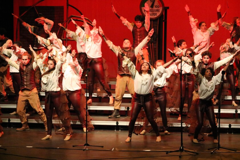 """The choirs at Oceanside High School announce the final performance of their Soundwaves Show Choir 2019 competitive set, """"Broken Machine,"""" at the OHS Choir Pop Show at 7 tonight at the Performing Arts Center."""