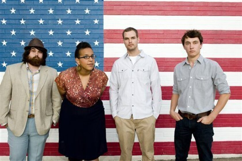 Alabama Shakes is one of the fastest-rising bands of the year, thanks to its raw, vibrant brand of vintage soul and rock. The band's members are (from left), Zac Cockrell, Brittany Howard, Steve Johnson and Heath Fogg. (AP Photo/ATO Records, Don VanCleave)