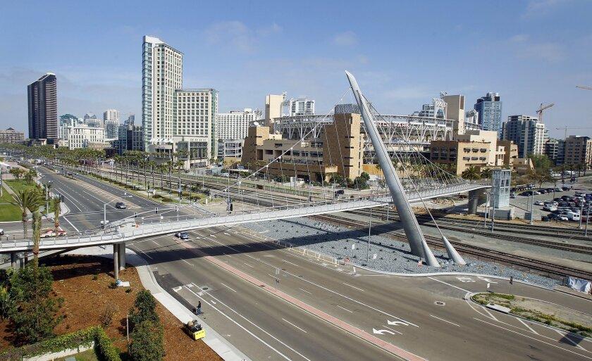 San Diego's Harbor Drive pedestrian bridge. U-T San Diego file photo.