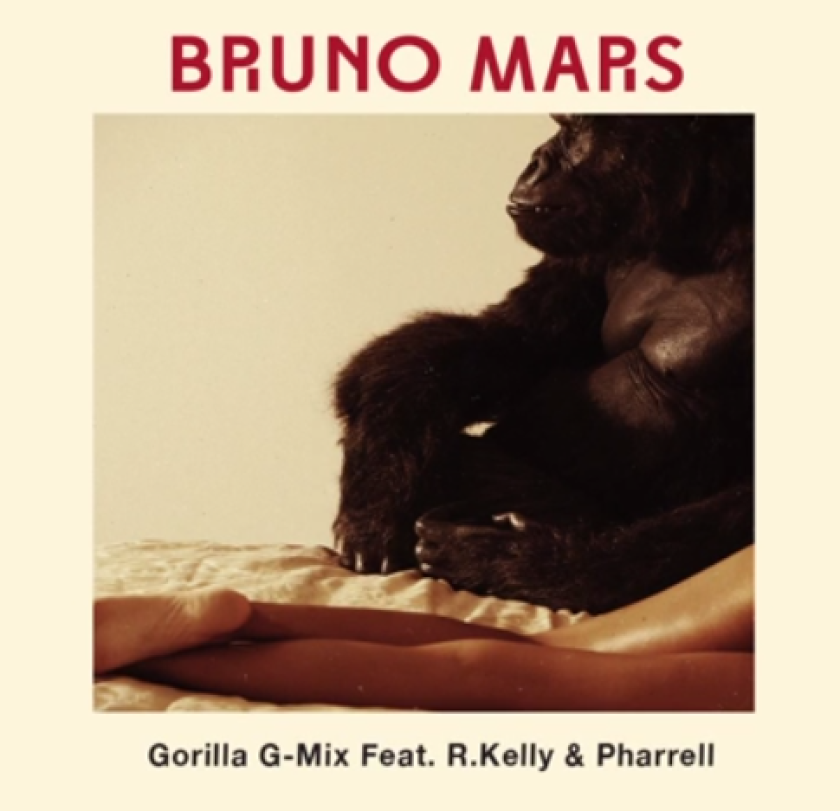 """Bruno Mars released a remix of his song """"Gorilla"""" featuring R. Kelly and Pharrell."""