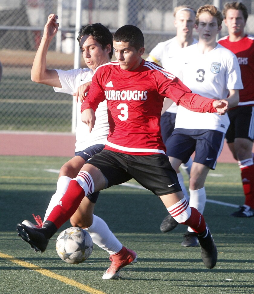 Photo Gallery: Burroughs vs. Crescenta Valley in Pacific League boys' soccer
