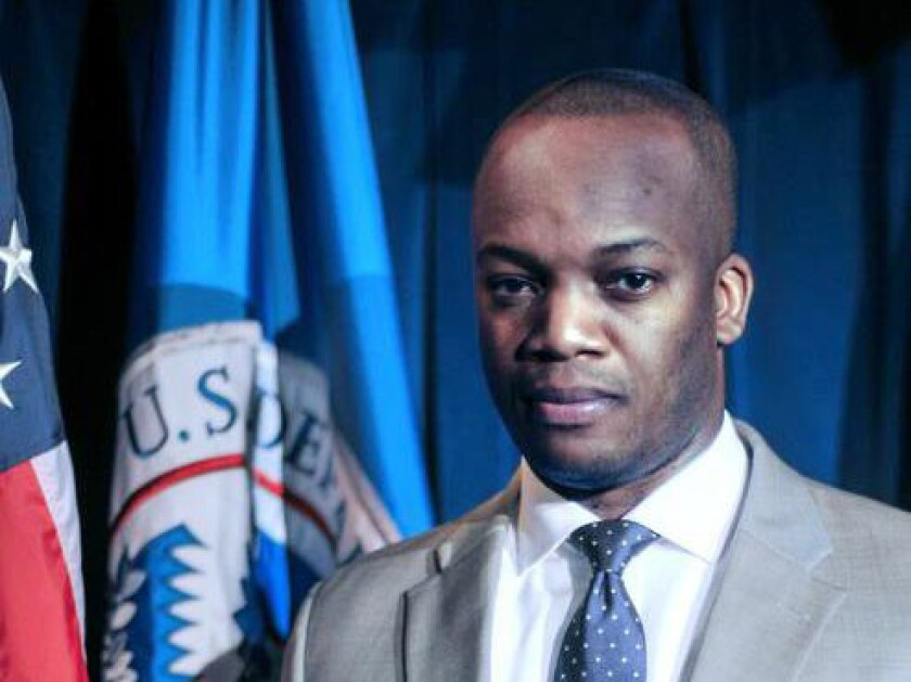 Former FEMA personnel chief Corey Coleman, shown in an image from the agency's website, resigned last month.