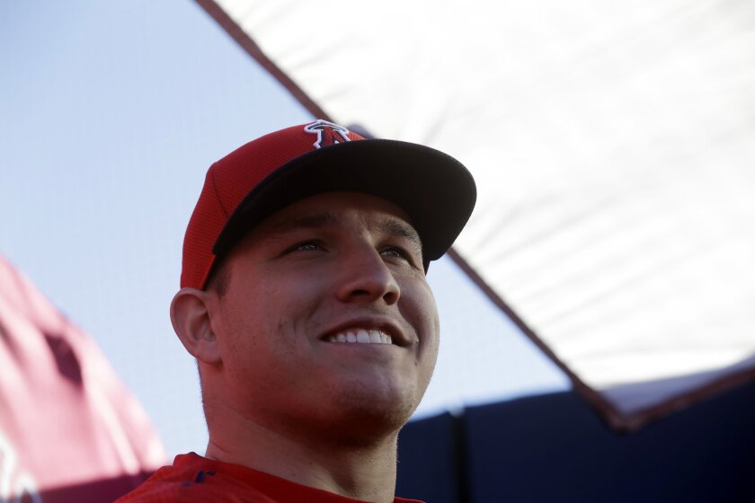 Angels center fielder Mike Trout says he takes only two weeks off at season's end.