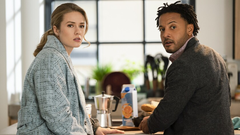 "Tori Anderson and Brandon Jay McLaren in a new episode of the crime drama ""Ransom"" on CBS."