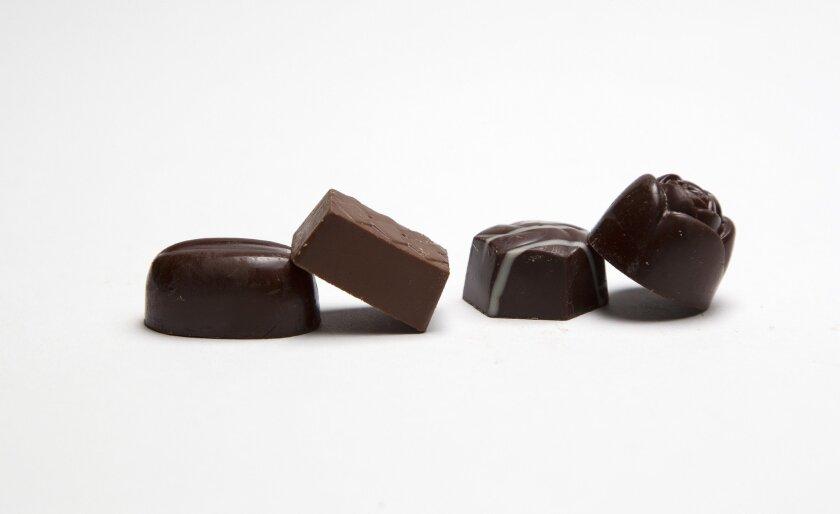 Chuao's ssorted chocolates.