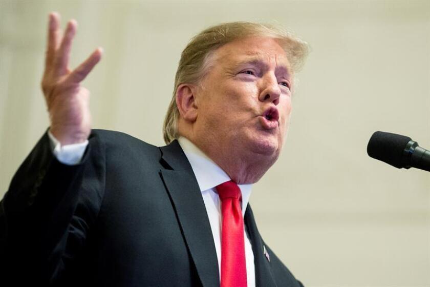 El presidente de los Estados Unidos Donald J. Trump (d). EFE/Archivo