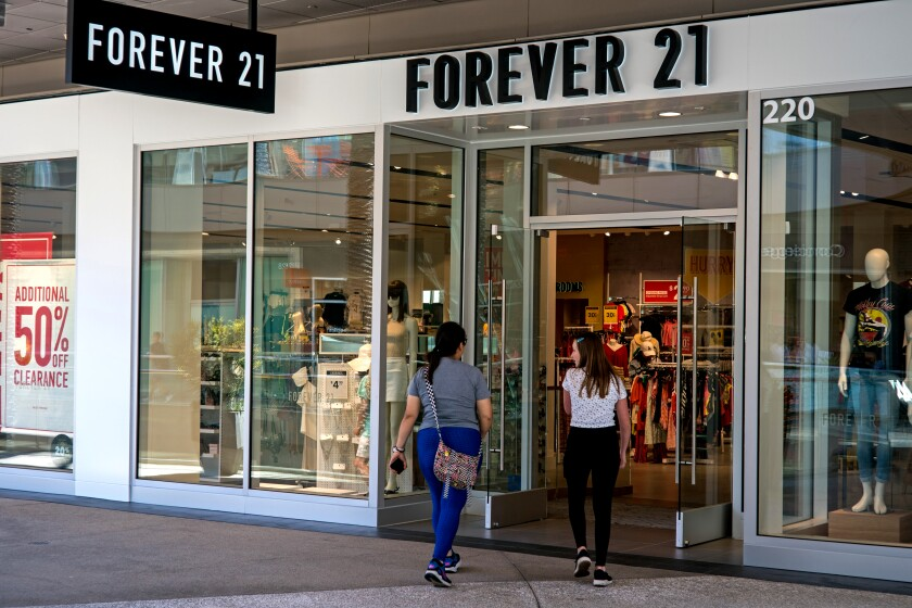 The Forever 21 store at Santa Monica Place in July.