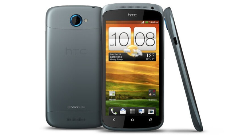 HTC One S in gradient black and blue