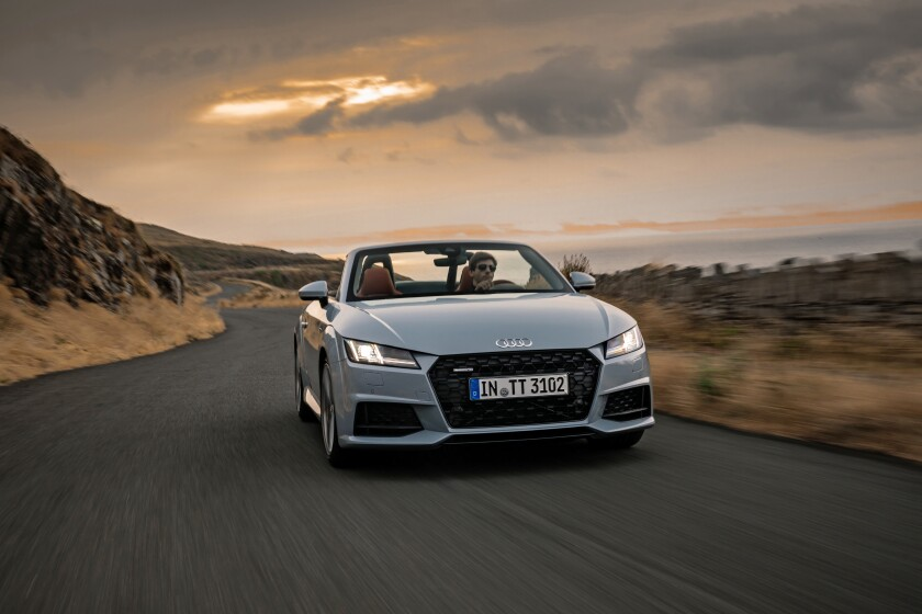 """For the 20th anniversary of its TT Roadster, Audi produced 999 special-edition 2019 TTs (Roadster version, above). Of the 100 allotted to U.S. dealers, all have been spoken for. Luckily, """"regular"""" TTs are available (and cheaper)."""