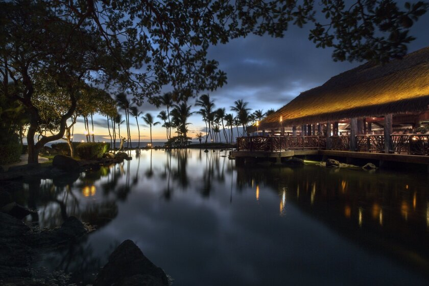 Humu, the Grand Wailea Resort's signature restaurant is the perfect spot for a sunset dinner.