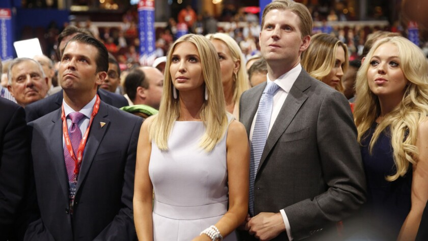 The Rnc Like The Government Is Another Trump Family Affair Los Angeles Times