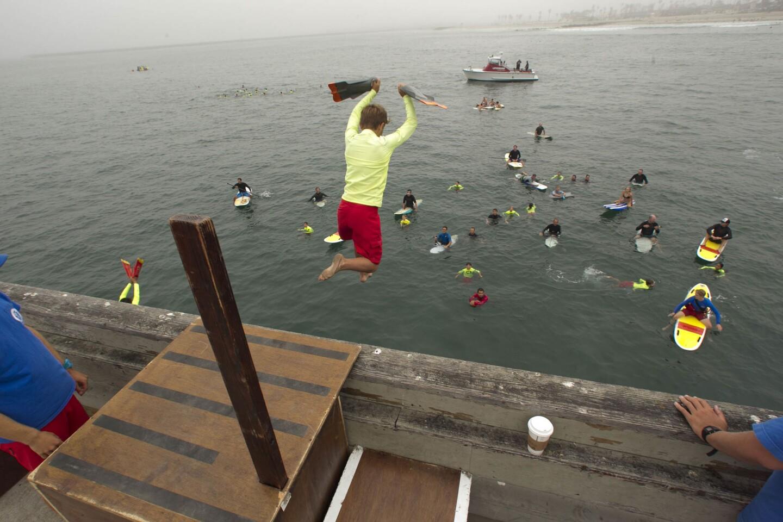 Junior Lifeguards pier jump
